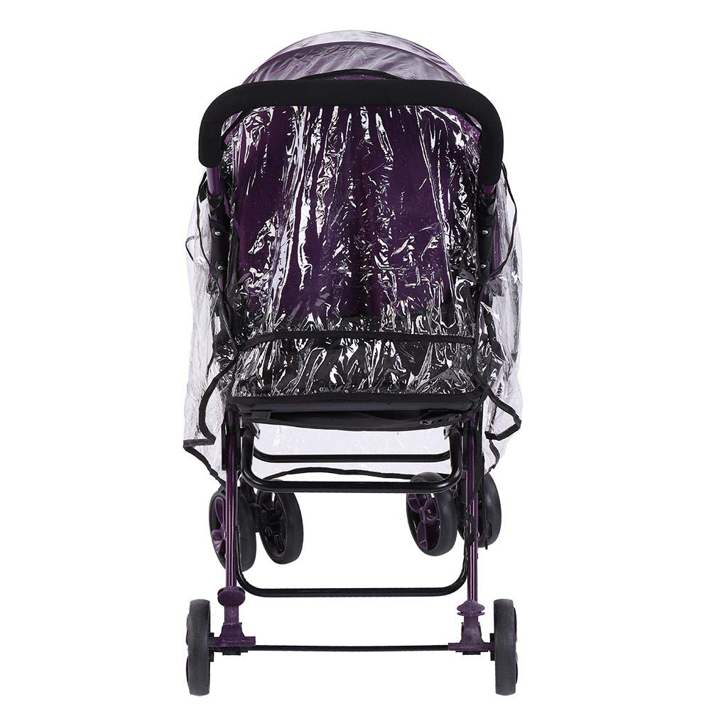 Baby Stroller Rain Cover Windproof Baby Buggy Stroller Rain Cover Transparent Pushchair Protection Rain Cover