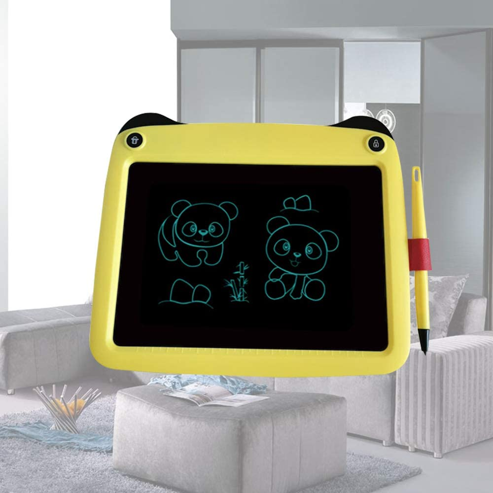 9-inch Childrens Electronic LCD Tablet Childrens Drawing Board Portable Intelligent Graffiti Board Painting Board Gift LCD Tablet Suitable for School Home Office