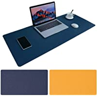 Large Desk Pad, Non-Slip PU Leather Desk Mouse Pad Waterproof Desk Pad Protector, Dual-Side Use Desk Writing Mat for…