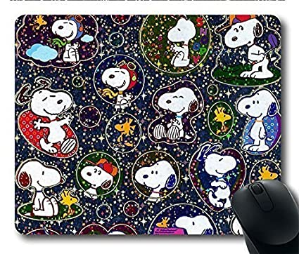 amazon com gaming mouse pad cute snoopys personalized mousepads