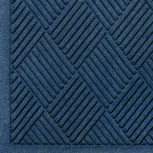 - WaterHog Fashion Diamond-Pattern Commercial Grade Entrance Mat, Indoor/Outdoor Medium Brown Floor Mat 3' Length x 2' Width, Navy by M+A Matting