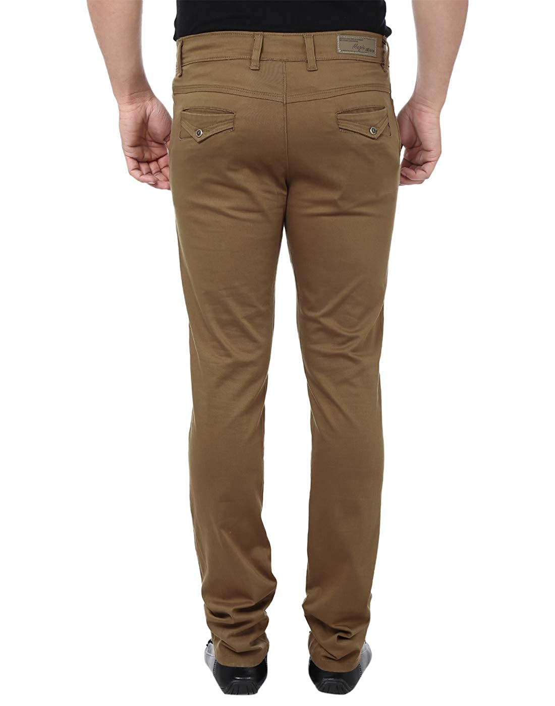 2acd2fc5474 Magic Attitude Men s Semi Formal Trouser Chino Coffee 30  Amazon.in   Clothing   Accessories