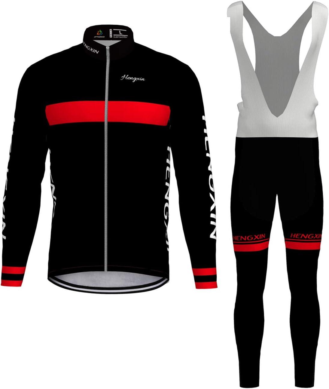 Hengxin Body Tuta Ciclismo Completo Bici Uomo Estivo con Maglia e Pantaloncini Corti Imbottiti