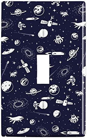 Spaceship Kids Room Themed Light Switch Cover Choose Your Cover