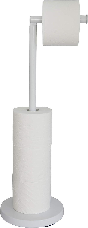 16 x 34,5 cm Portarrollos de Papel de Cocina de pie con Base de m/ármol y Alambre met/álico de lat/ón RooLee