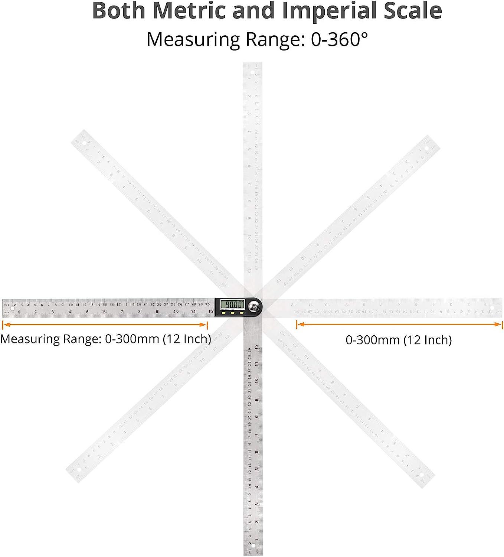 AMTOVL Digitaler Winkelmesser schmiege 300mm Kunststoff Winkelfinder Lineal f/ür die Reparatur von Holzbearbeitungskonstruktionen