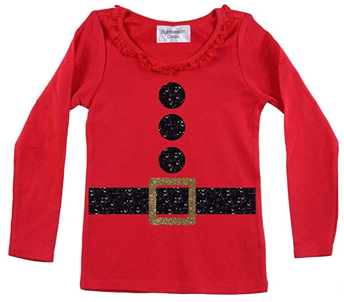 Amazon.com: Bubblegum Divas - Traje de Papá Noel para niña ...