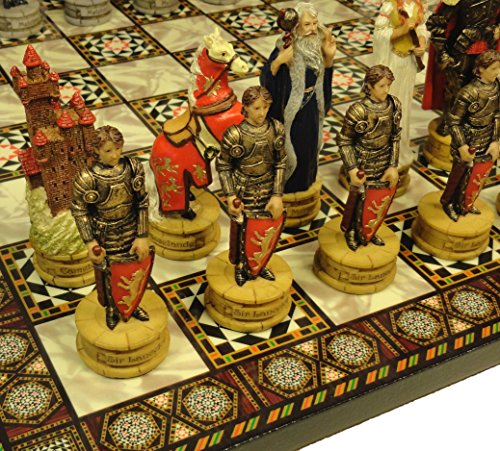 HPL Medieval Times King Arthur / Lancelot Camelot Knights Chess Men Set W/ 14