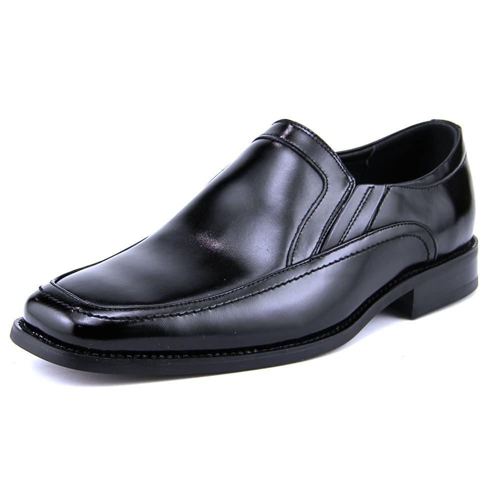 Stacy Adams Men's Felton Moc Toe Double Black Loafer 7.5 M