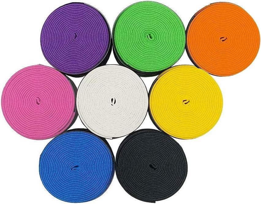 Overgrip de Raqueta de Tennis Badminton para Grip Antideslizante y Absorbente, Colores VariadosGrip (8 Piezas)