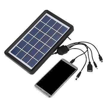 Vbestlife 5-in-1 Cargador Bateria Solar con Cable de Célula ...