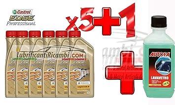 5 frascos de aceite para motores de coche de un litro, Shell Helix ...