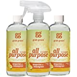 Grab Green Natural All Purpose Cleaner, Tangerine with Lemongrass, 16 Ounce, 3 count