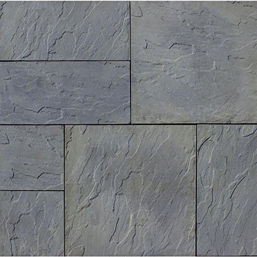 Nantucket Pavers Patio-on-a-Pallet 120 in. x 120 in. Gray Variegated Basket-Weave York-Stone Concrete Paver (Pallet of (Basketweave Patio)