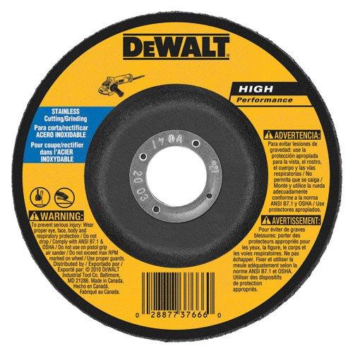 DEWALT DW8457 6-Inch by 1/8-Inch T27 Stainless Steel Cutting/Grinding Wheel, 7/8-Inch (Dewalt Stainless Steel Grinding Wheel)