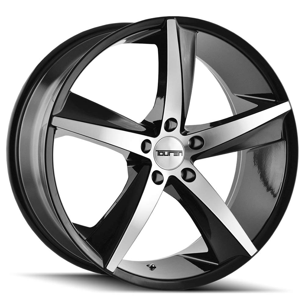 TR72 (3272) GLOSS BLACK/MACHINED FACE 20X8.5 5-120 20mm 74.1mm