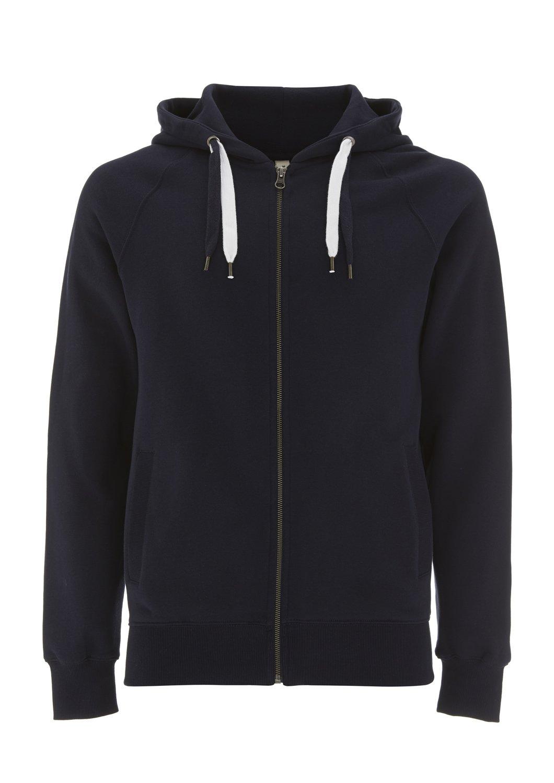 Navy Hoodie for Women - X Large - XL - Womens Zipper Zip Up Cotton Sweatshirt