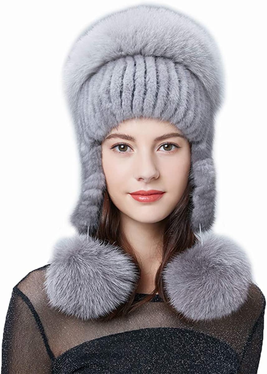 Winter Fur Hat Women's...