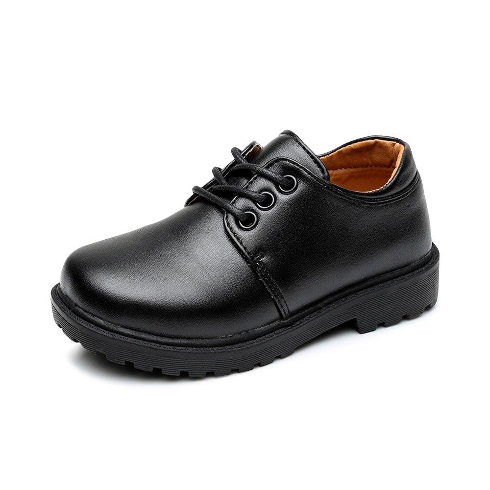 OCHENTA Boy's School Uniform Dress Oxford Shoes 4201 Lace Tag 40-6 M US Big Kid
