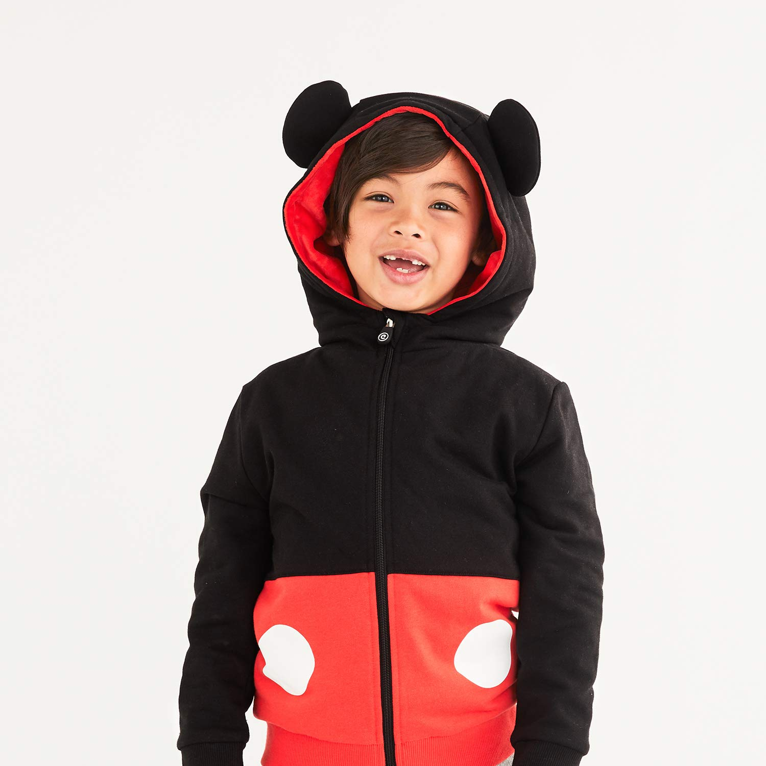 Red /& Black 2-in-1 Transforming Hoodie /& Soft Plushie Cubcoats Mickey Mouse