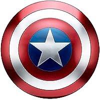 Escudo Capitan America Metal Adulto Escudo De Superhéroe 45CM Halloween 75 ° Aniversario Adultos Y Niños Barra De Escudo…