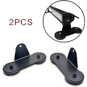 2Pcs MASO Strong Magnetic Mount Bracket Holder Base Roof LED Light Bar For Car SUV