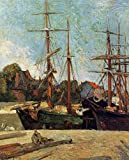 Gauguin Paul Schooner and Three Master 100% Hand Painted Oil Paintings Reproductions 12X16 Inch