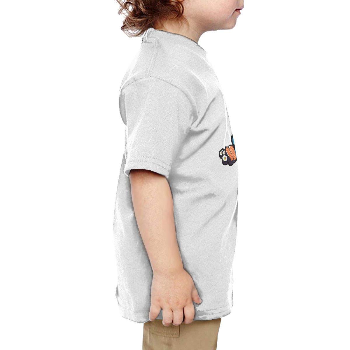 I Love Sushi Baby Toddler Short Sleeve Crewneck Cotton Tee