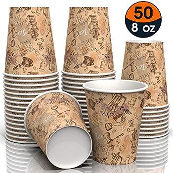 Amazon Com Ocup 6 5 Oz Disposable Paper Cups 50ct Hot