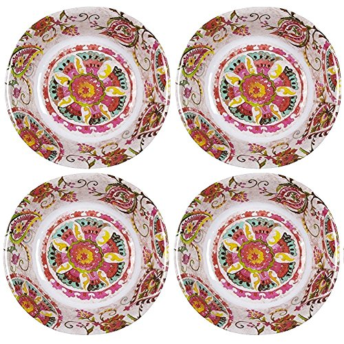 Global Floral Medallion Melamine Salad Bowl, 7.5