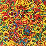 1000x Elastic Hair Bands Braiding Rubber Colour Mix Tiny Poly Small