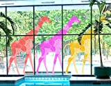 Window Sticker three deco style giraffes set I window film window tattoo glass sticker window art window décor window decoration window picture Dimensions: 56.7 x 100.4 inches