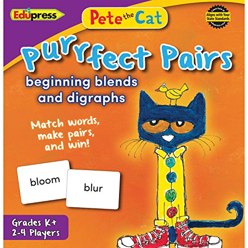 Digraphs And Blends (Pete The Cat Purrfect Pairs Game:Beginning Blends & Digraghs (EP-3533))