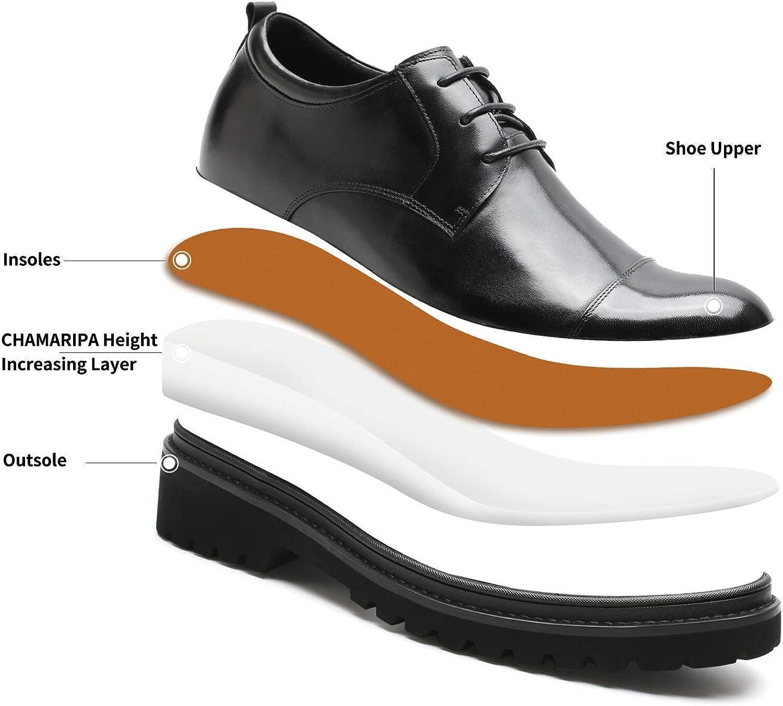 CHAMARIPA Oxford Chaussure rehaussante Ville Lacets Cuir