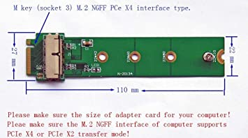 """M Key NGFF M.2 NVME SSD Adapter Card for MacBook Pro 13/"""" A1502 2013 2014 2015"""