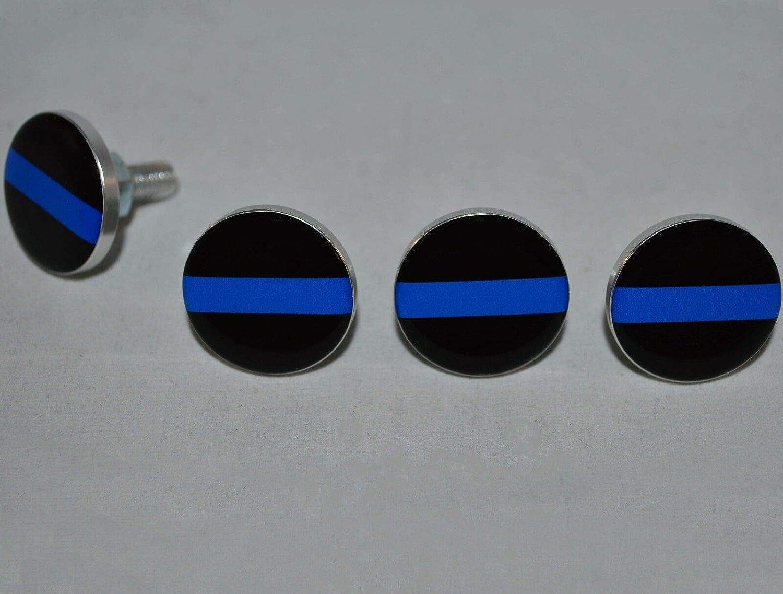 4 Blue Bullet Billet Aluminum Motorcycle License Plate Frame Fastener Bolts