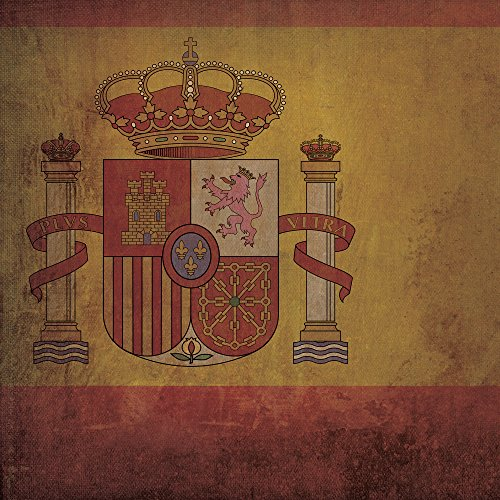Spain Flag Art, 30'' Gallery Wrapped Canvas by City Prints