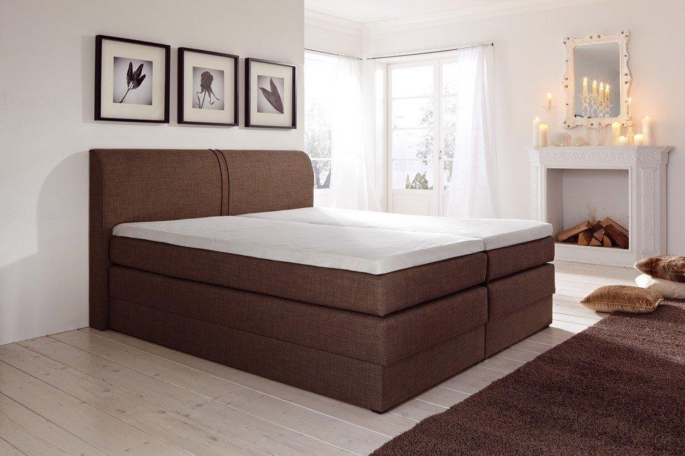 dreams4home boxspringbett texas mit bettkasten kt 4 hellbraun 100 140 160 180 200x200cm. Black Bedroom Furniture Sets. Home Design Ideas