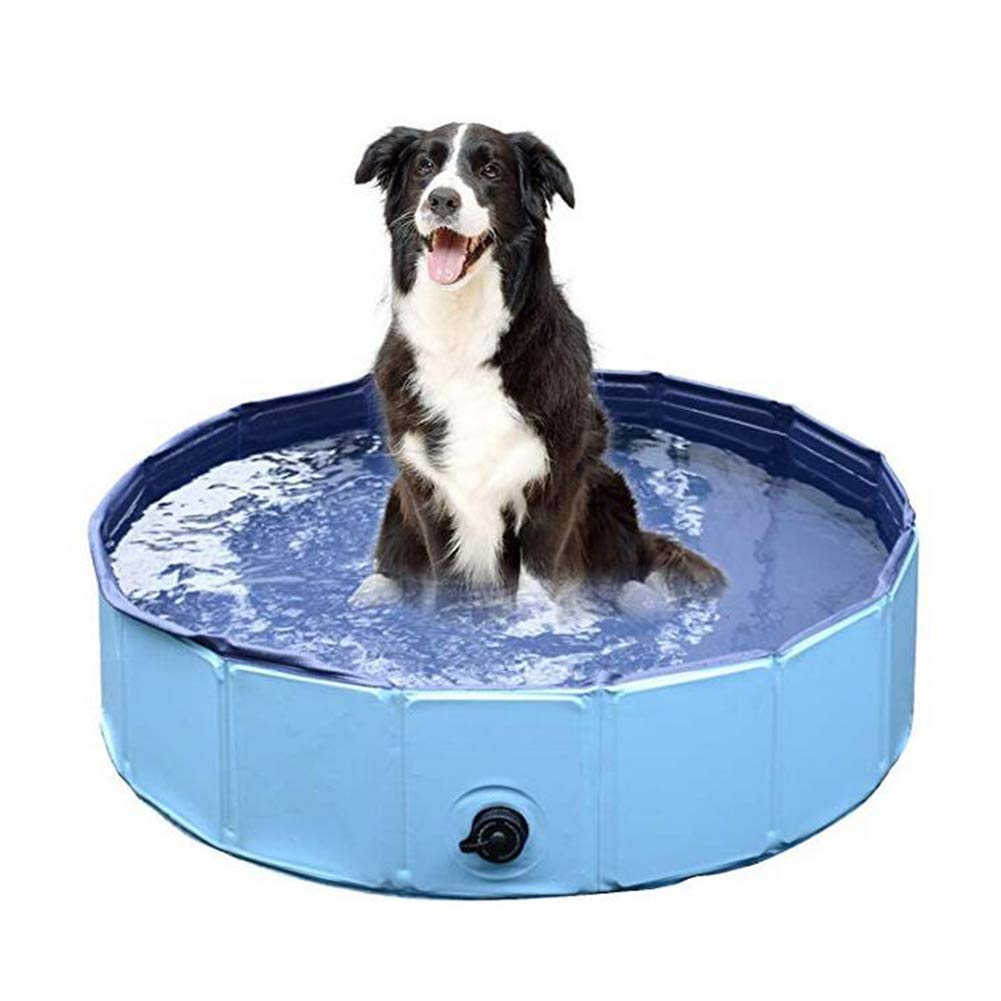 31.5inchesby8inches Pet Swimming Pool Portable Foldable Pool Dogs Cats Bathing Tub Bathtub Water Pond Expandable Grooming Washing Accessory for Small Medium Large Pets. Cacoffay