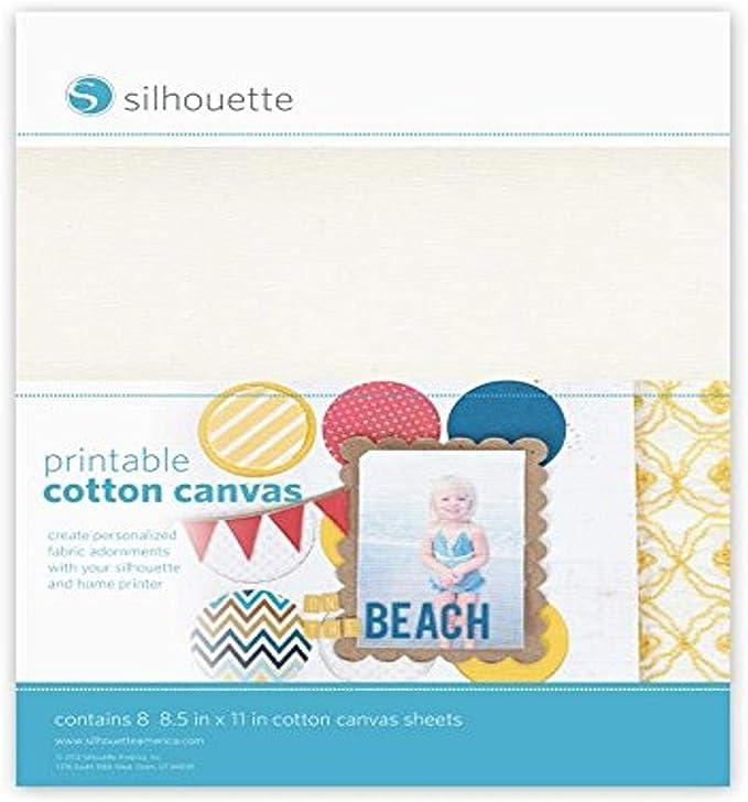 Silhouette MEDIA-CANVAS-ADH - Textil imprimible: Amazon.es: Informática