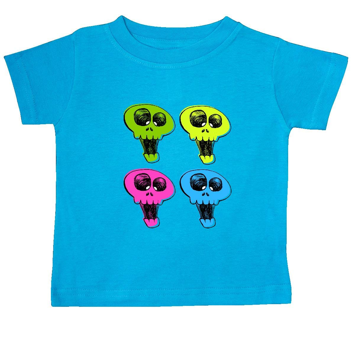 inktastic Bright and Happy Skulls Baby T-Shirt