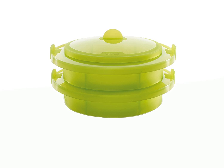 Lékué - Vaporera, 2 niveles y tapa verde