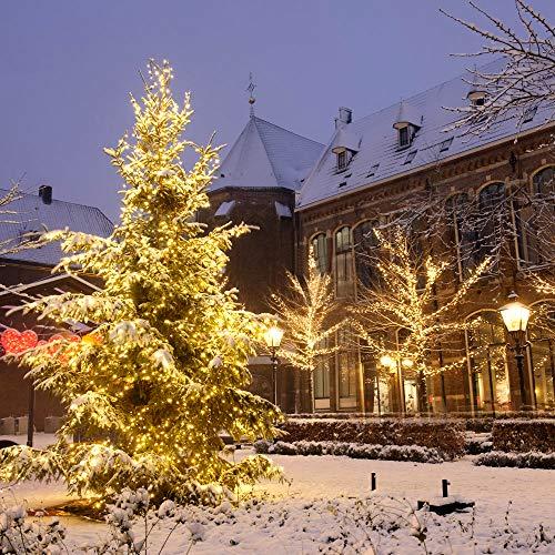 Guirnaldas Luces Exterior Solar,aifulo 20m 200 LED Cadena de Luces,8 Modos Impermeable Iluminación Decoración para Navidad,Terraza,Fiestas,Bodas,Patio,Jardines,Festivales