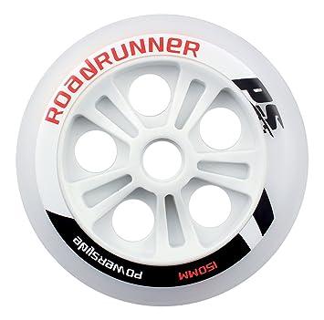 Powerslide Roadrunner 900670 - Rueda para patines nórdicos (poliuretano), color blanco: Amazon.es: Deportes y aire libre
