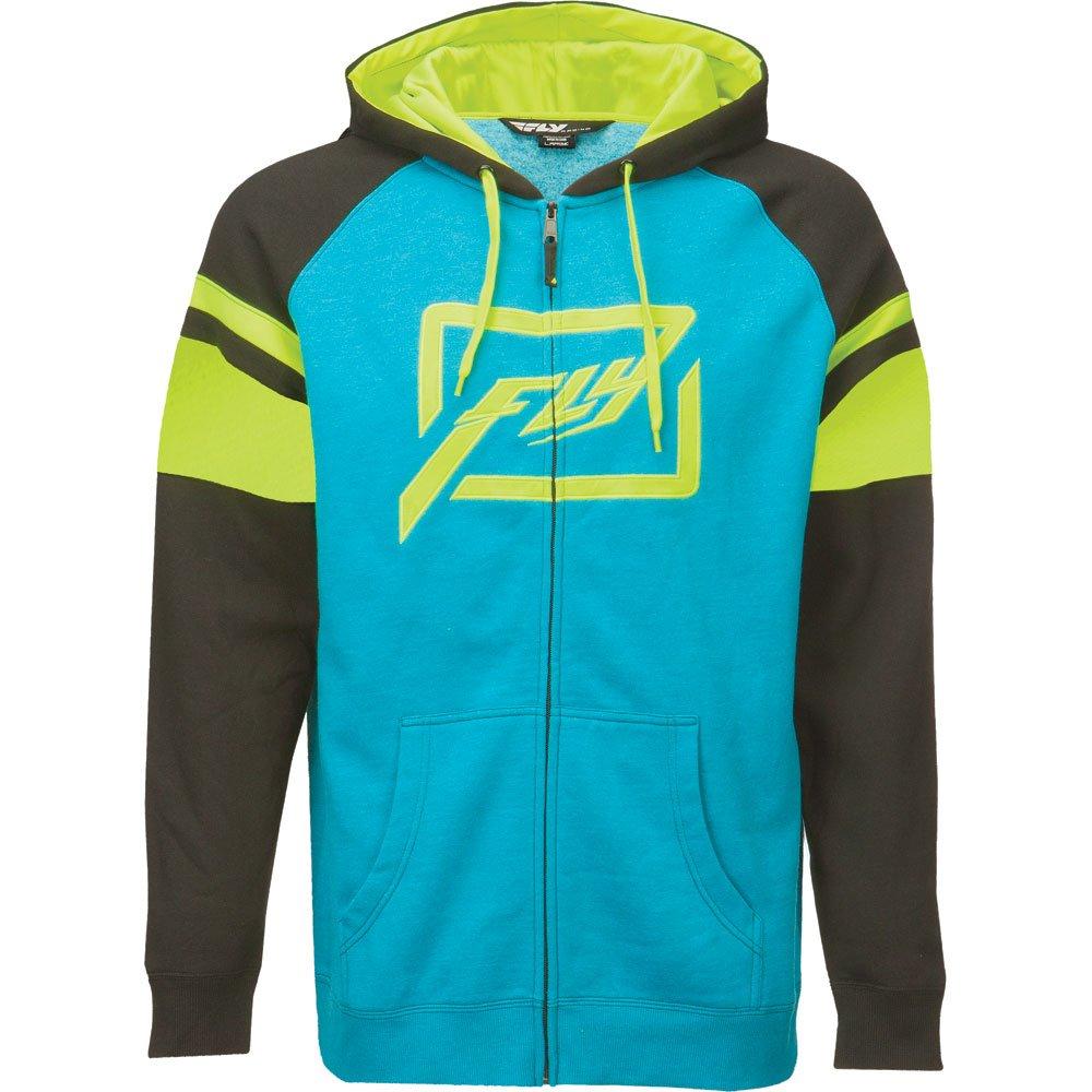 Fly threshold racing veste à capuche bleu fluo s 2016