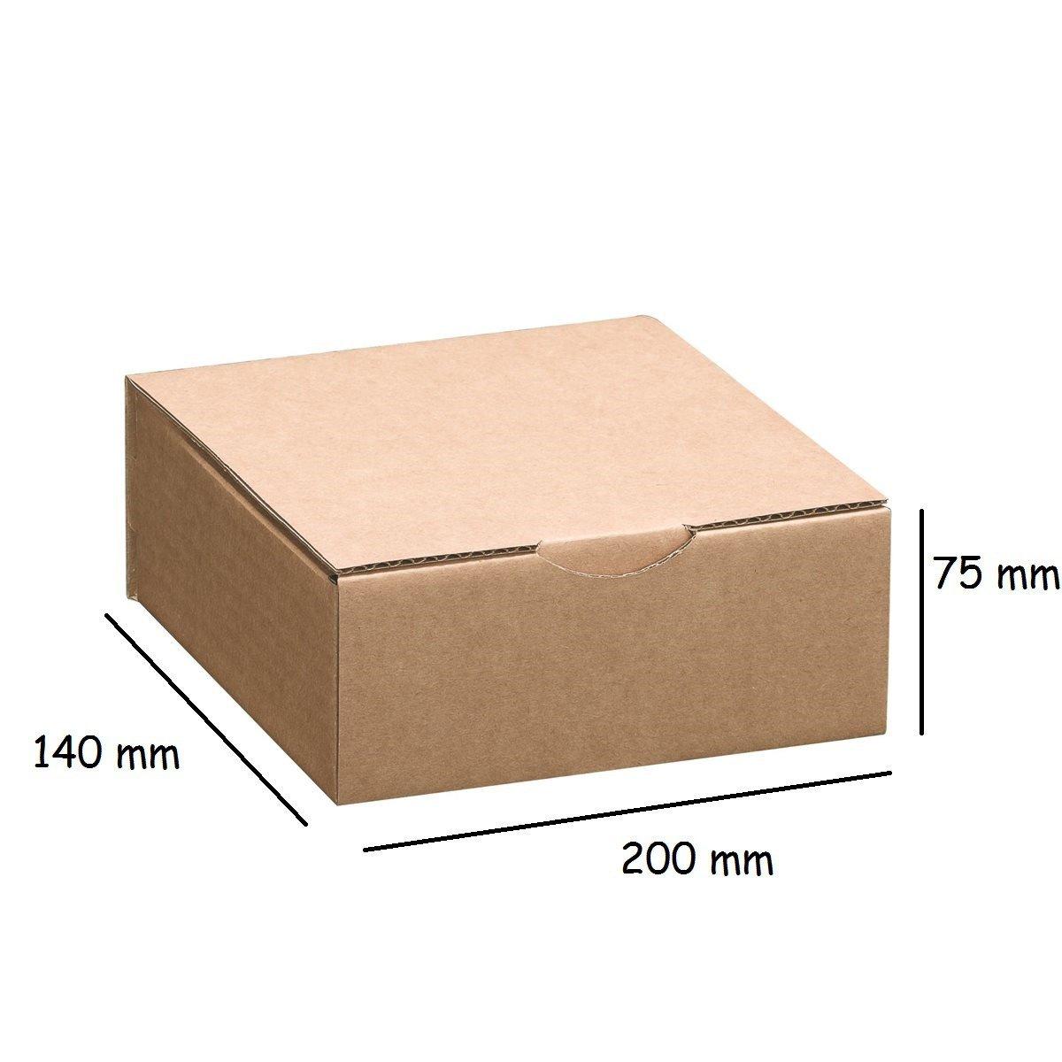 Lot de 5 Boîtes postales brunes 200x140x75 mm