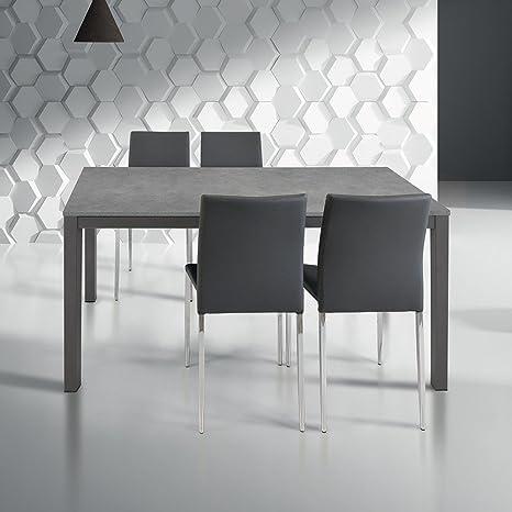 Tavolo Da Pranzo Moderno Di Design Allungabile Cm 80 X 140/200 ...