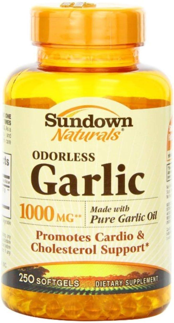Sundown Naturals Odorless Garlic 1000 mg Softgels 250 ea Pack of 11