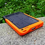 ALLPOWERS® DBK Solar Charger Panel iphone High Power 7200mah Solar Panel Environment Friendly Portable Charger Battery Power Bank Charger for iPhone 5S 5C 5 4S 4, iPods, iPad Mini Retina(Apple Adapters not Included), Samsung Galaxy Note 3, Note 2, S5 S4, S3, S2, Most Android Smart Phones and Tablets, More Other USB-charged Devices