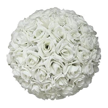 Amazon sodialr 820cmwedding decorations artificial rose sodialr 8quot20cmwedding decorations artificial rose silk flower ball mightylinksfo